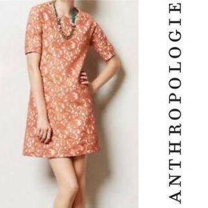 Anthropologie - Peach Lace Bellini Dress